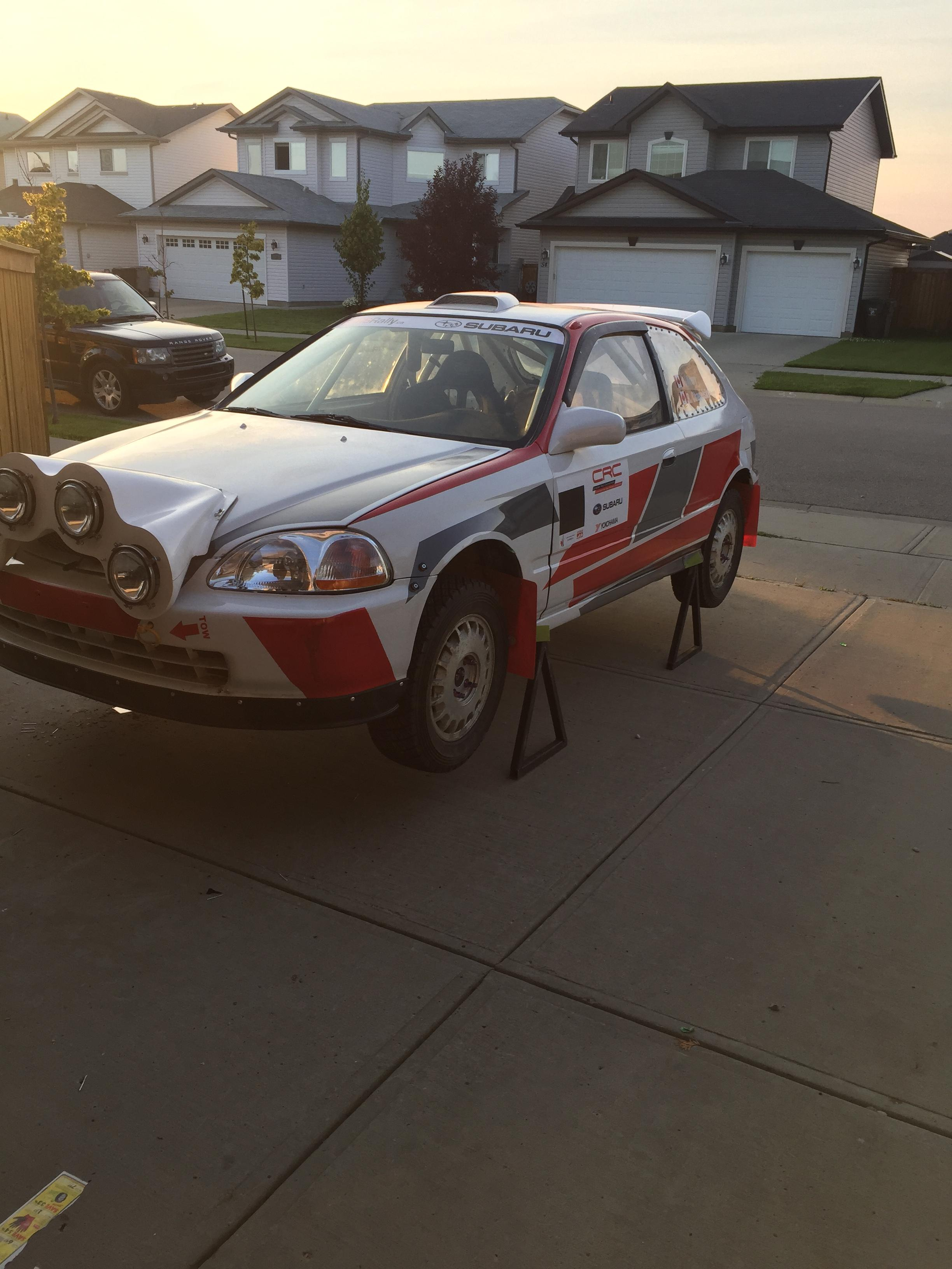 honda civic rally car for sale in edmonton 15000. Black Bedroom Furniture Sets. Home Design Ideas
