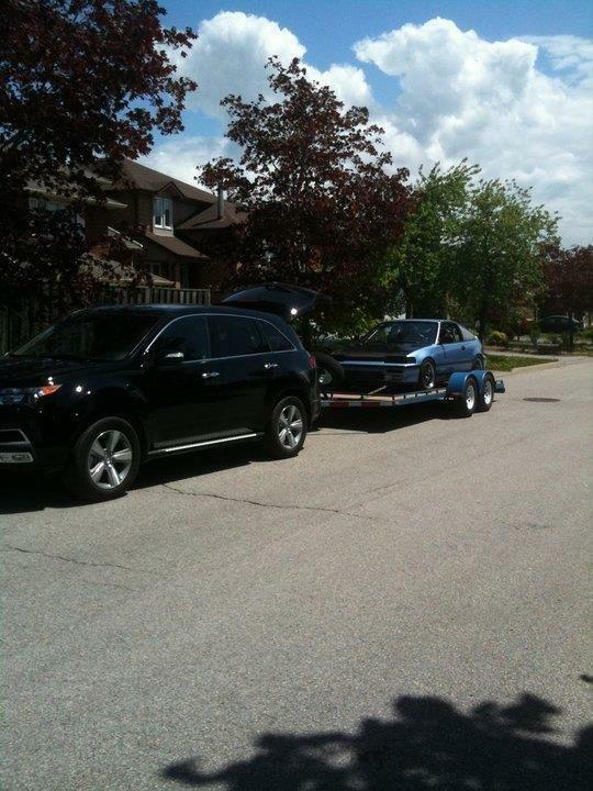 16 Car Hauler Trailer Blue For Sale In Brampton 2600